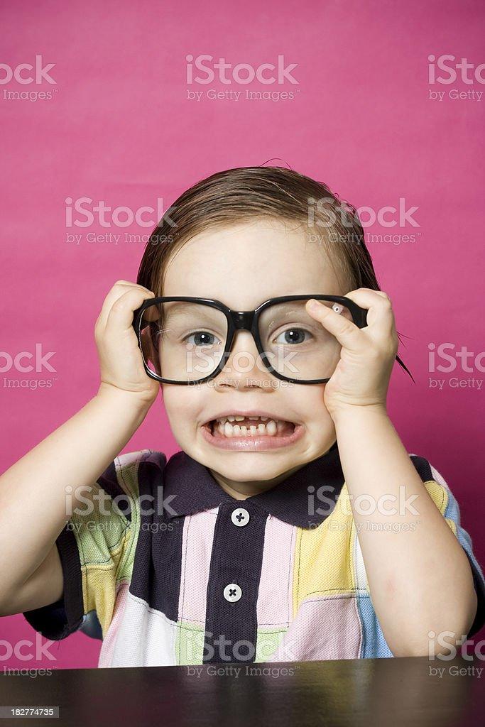 Little Geek royalty-free stock photo