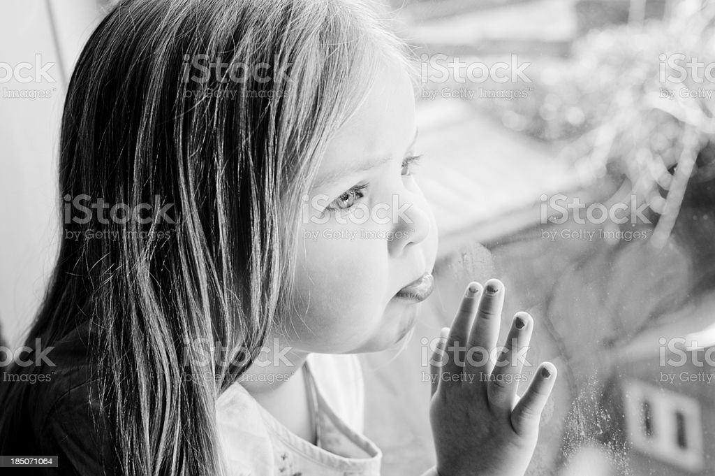 Little girl all alone royalty-free stock photo