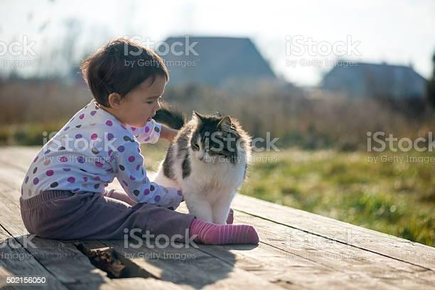 Little girl and cat play outside picture id502156050?b=1&k=6&m=502156050&s=612x612&h=8vfa ul0rn4xga7jibpwuwb3rd3 gzje8owwrkisfiy=