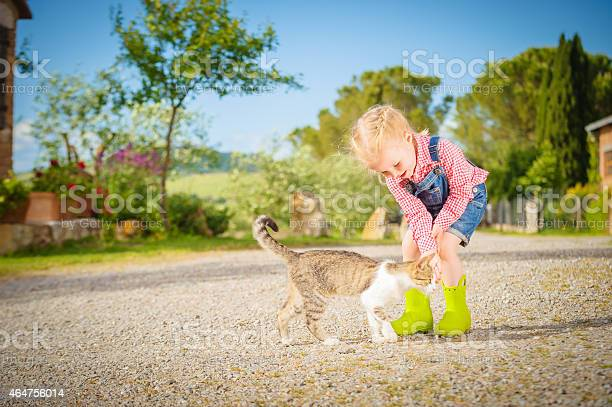 Little girl and cat playing outdoor in spring beautiful day picture id464756014?b=1&k=6&m=464756014&s=612x612&h=qedgii7tgvfwnsiuraqzhytfdh9kmijppsz4hncicgg=