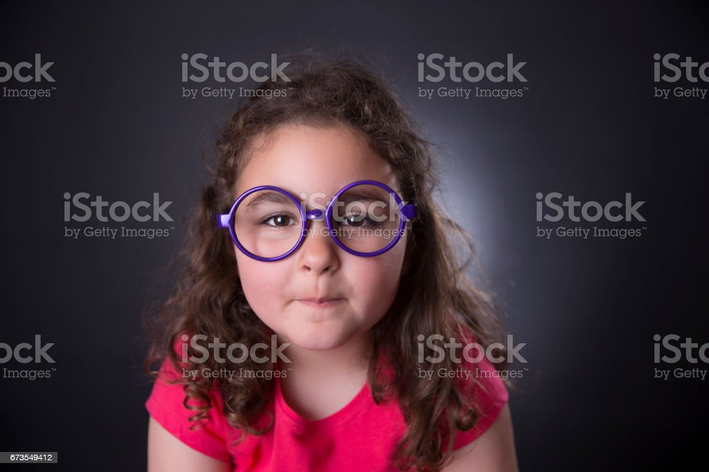 little girl and glasses royalty-free stock photo