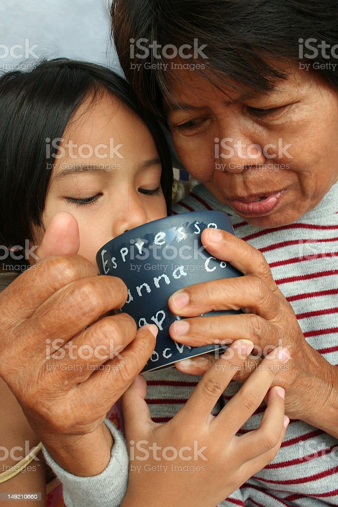 Little Girl and Grandma royalty-free stock photo