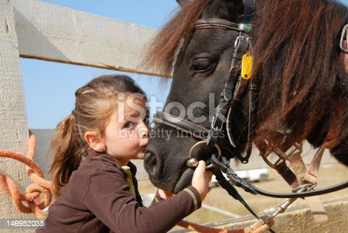 istock little girl and her pony 146952035
