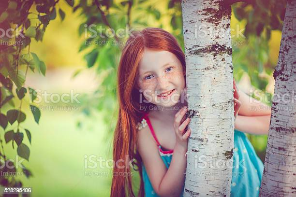 Photo of Little girl and nature