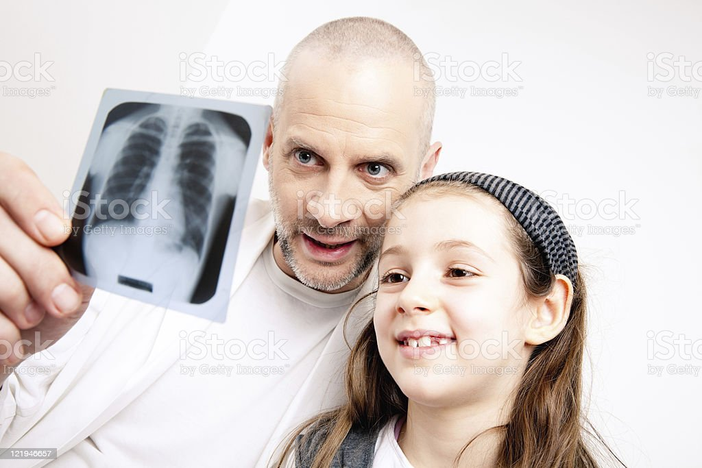 Little girl and the doctor royalty-free stock photo
