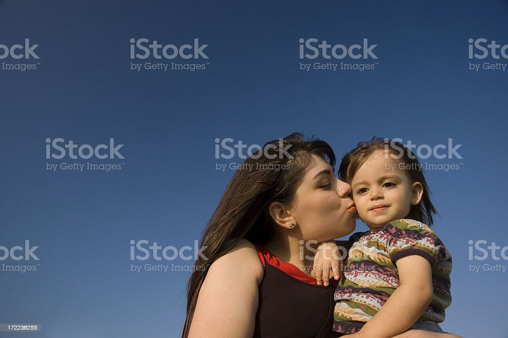 little girl and young woman royalty-free stock photo