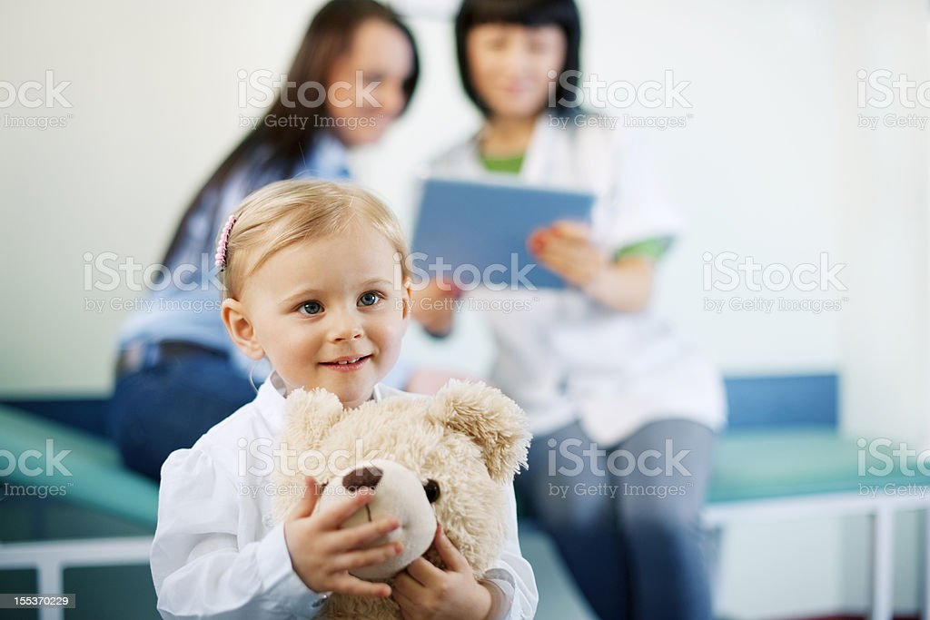 Little girl at doctors office royalty-free stock photo