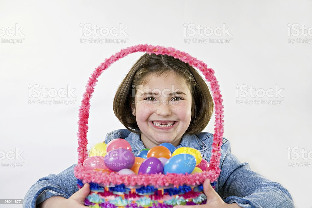 Little Girl at Easter royalty-free stock photo