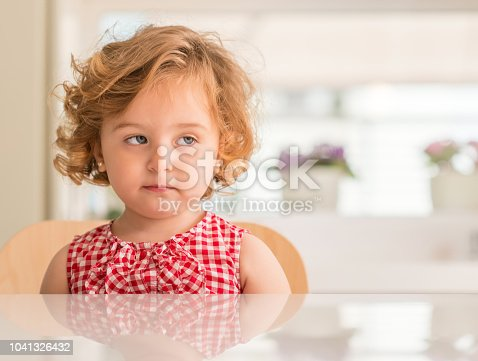 istock Little girl at home, beautiful toddler 1041326432