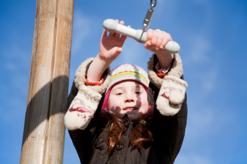 Little Girl At The Playground Stock Photo - Download Image Now