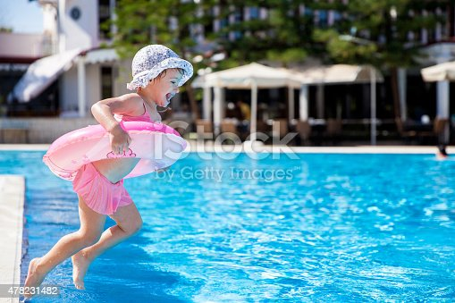 istock Little girl at the swimming pool 478231482