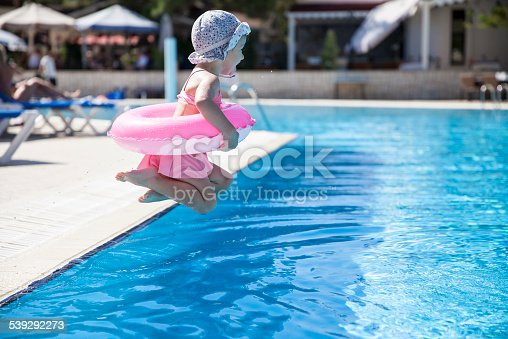 istock Little girl at the swimming pool 539292273