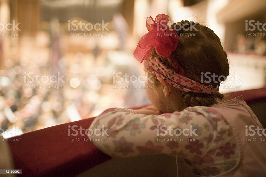 Little girl at the theatre royalty-free stock photo
