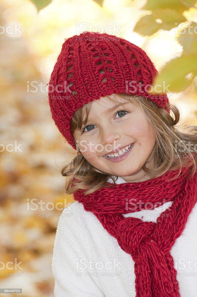 Kleines Mädchen Herbst portrait Lizenzfreies stock-foto