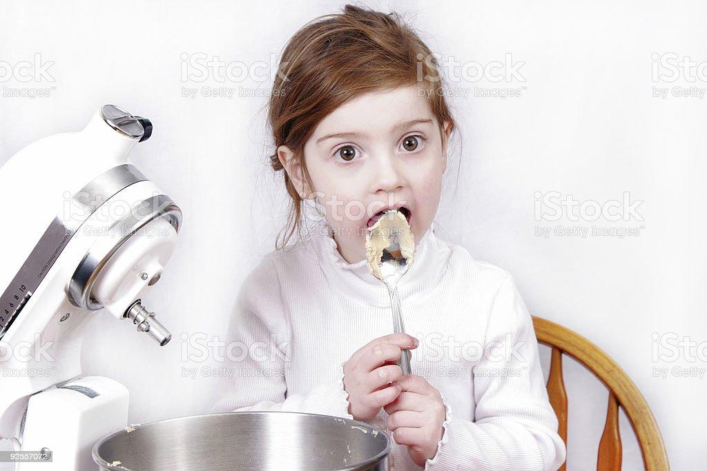 Little girl baking royalty-free stock photo