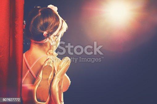 istock little girl ballerina ballet dancer on stage 507627772