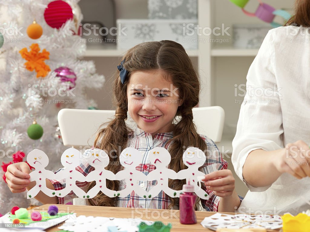 Little Girl Being Creative royalty-free stock photo