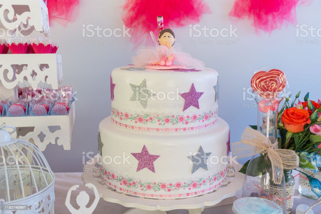 Prime Little Girl Birthday Party Table With Birthday Cake Lollipop Funny Birthday Cards Online Alyptdamsfinfo