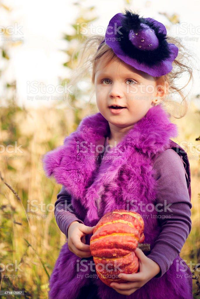 Little girl celebrating Halloween royalty-free stock photo
