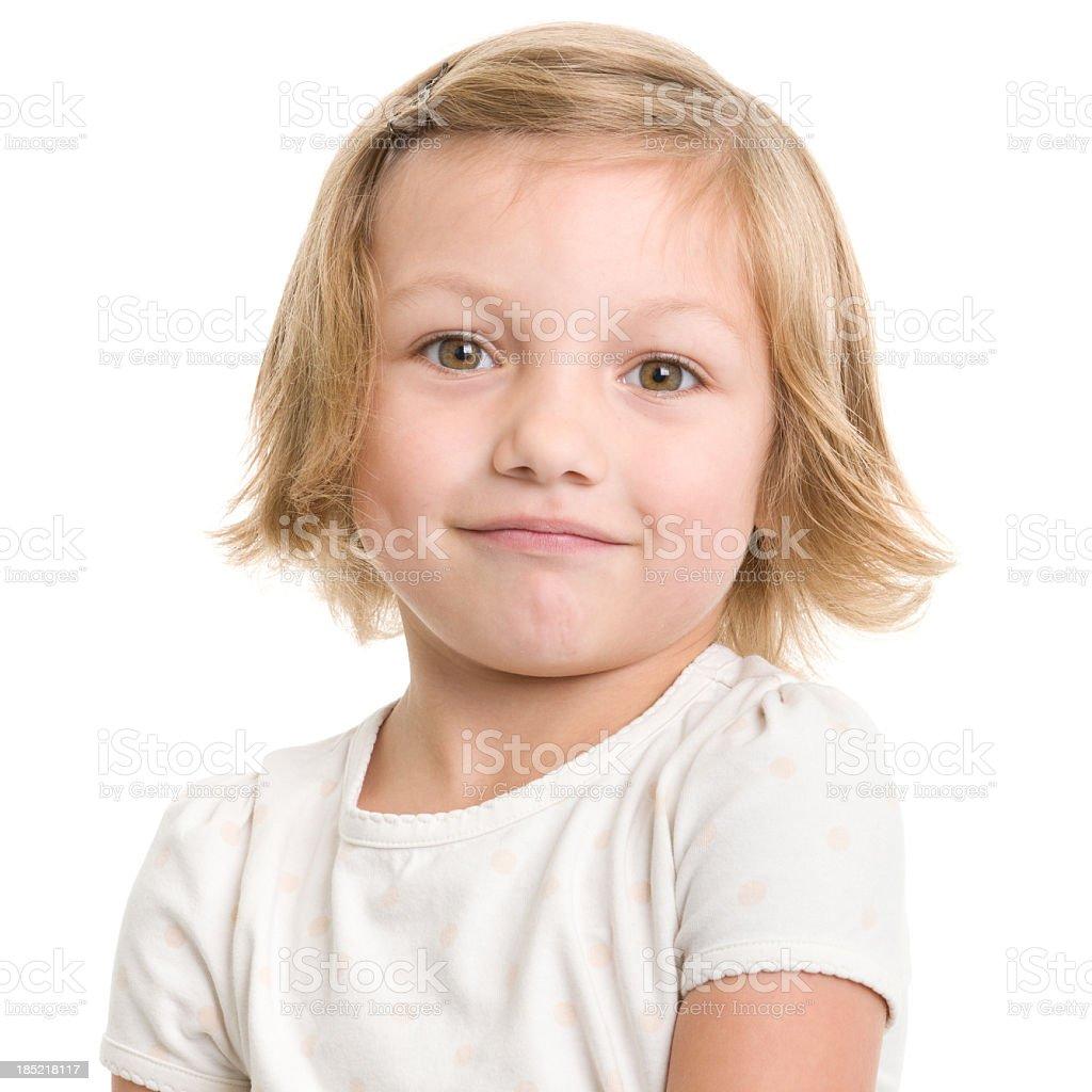 Blackpink Zero Budget: Little Girl Closeup Portrait Stock Photo