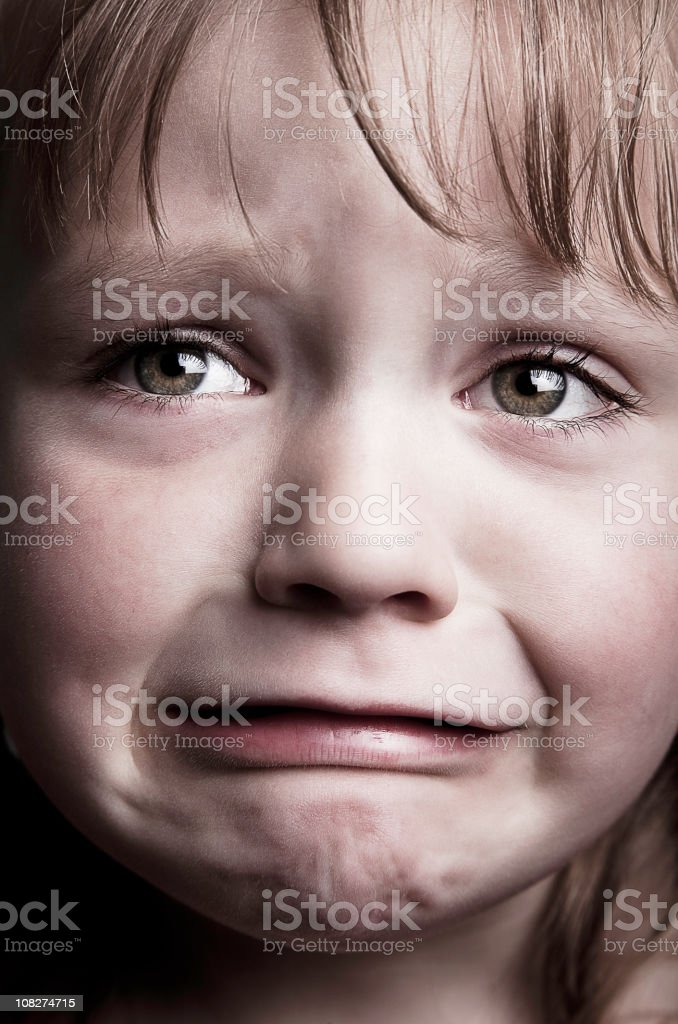 Little Girl Crying royalty-free stock photo