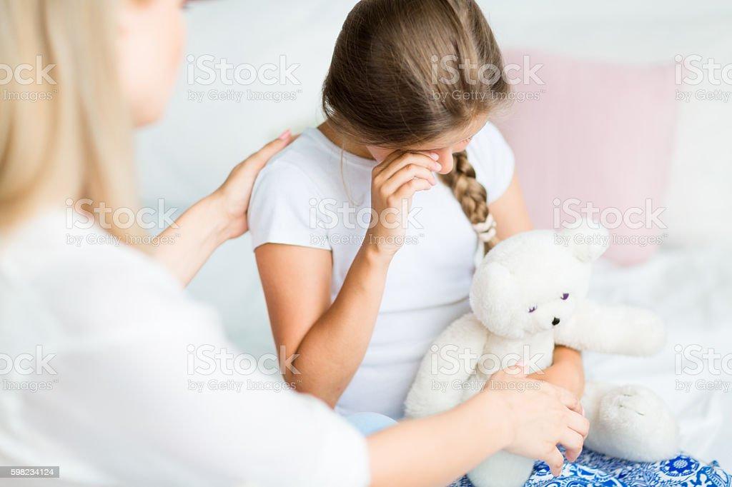Menina chorando foto royalty-free