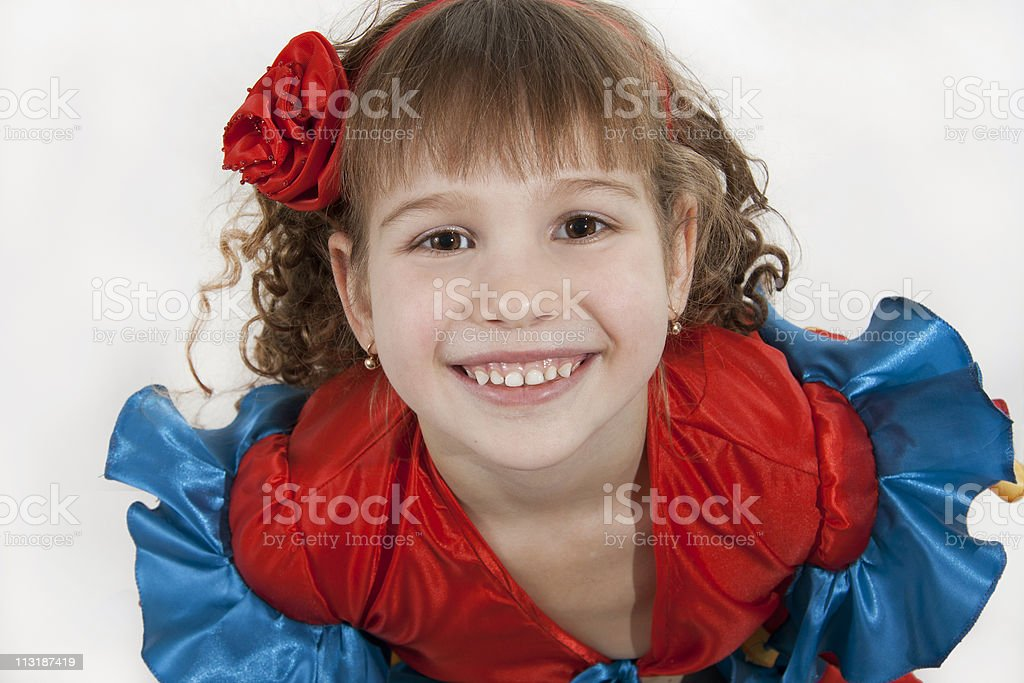 Little girl dancer. royalty-free stock photo