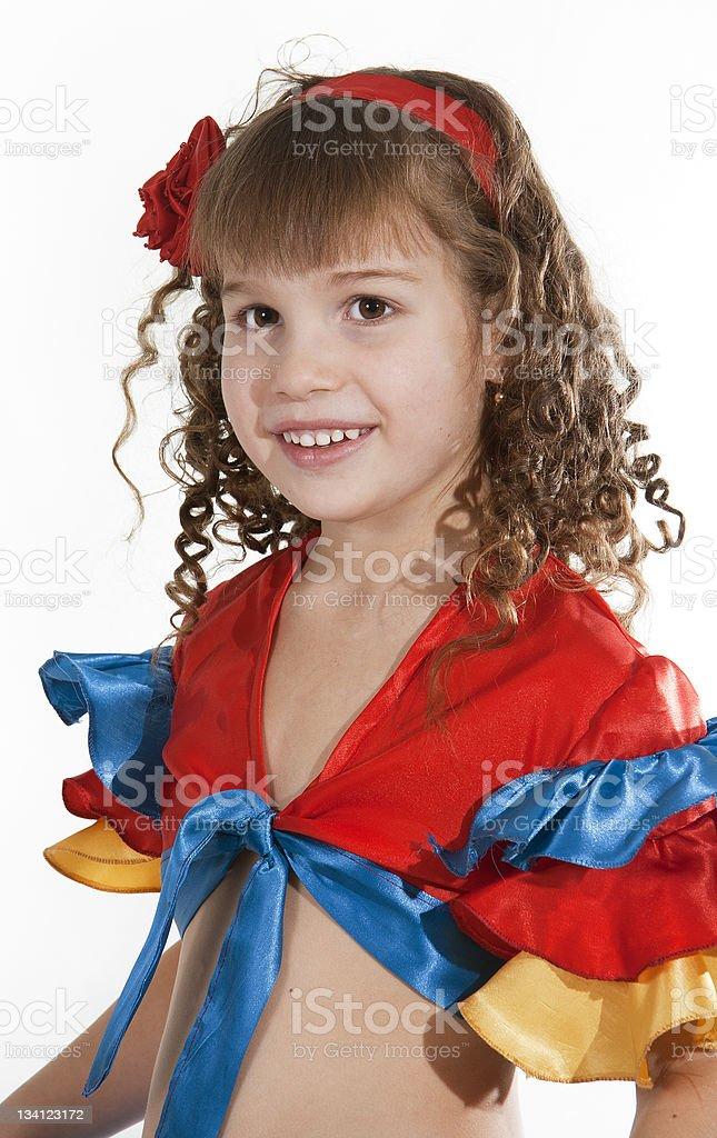 Little girl dancer. royalty-free stock photo