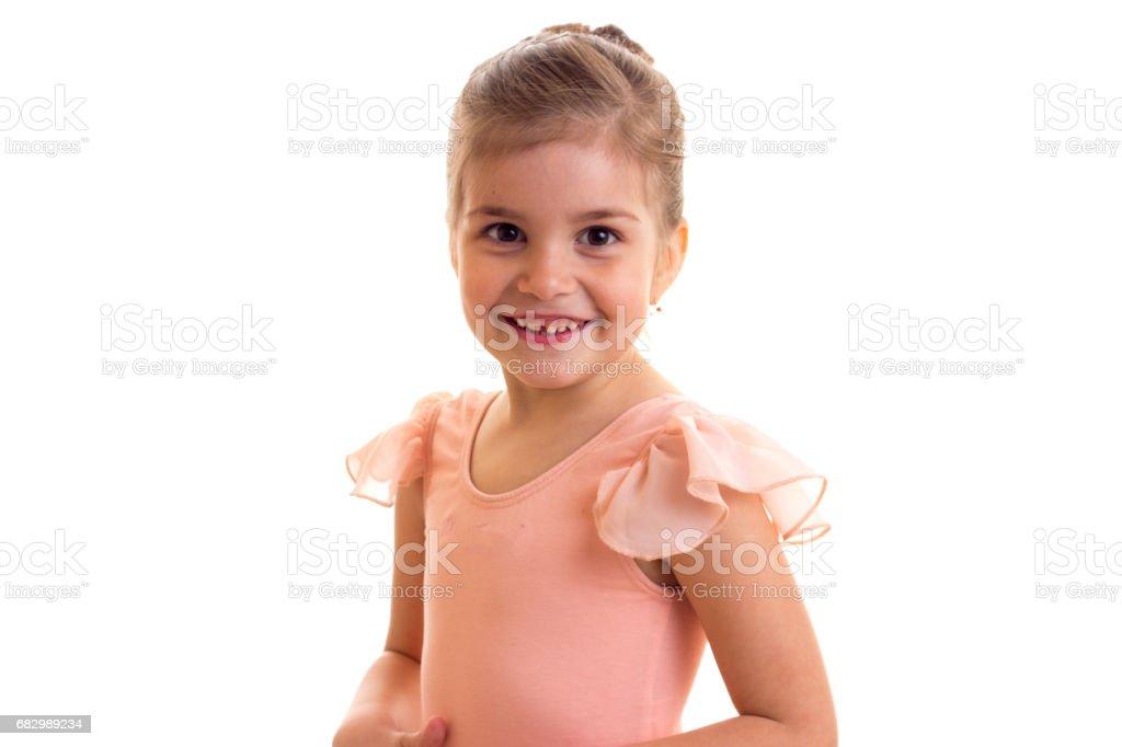Little girl dancing foto de stock royalty-free