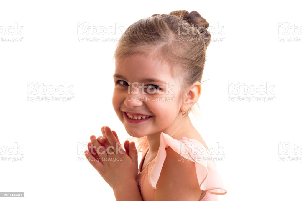 Little girl dancing royalty-free stock photo