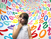 istock Little girl does not know how to solve an arithmetic problem 686806520
