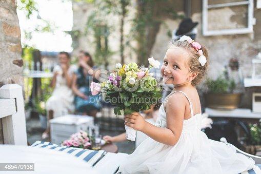 Adorable girl on wedding party
