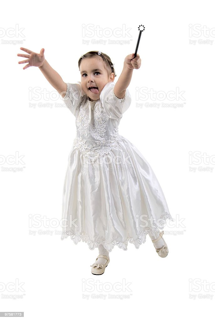 Little Girl Dressed As Fairy Or Princess. royalty-free stock photo