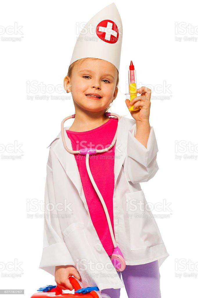 spielzeug, um ein Mädchen zu spritzen