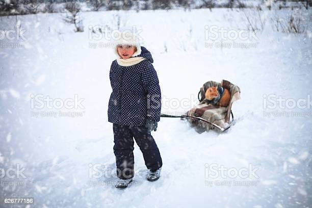 Little girl drove sleigh whith a red cat on snow picture id626777186?b=1&k=6&m=626777186&s=612x612&h=ddr7e3m mh44xme39mtnilezlwqwrmtrnyu9kg2vu 8=