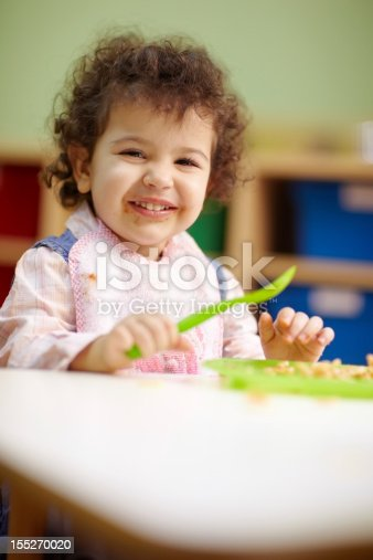 istock little girl eating lunch in kindergarten 155270020