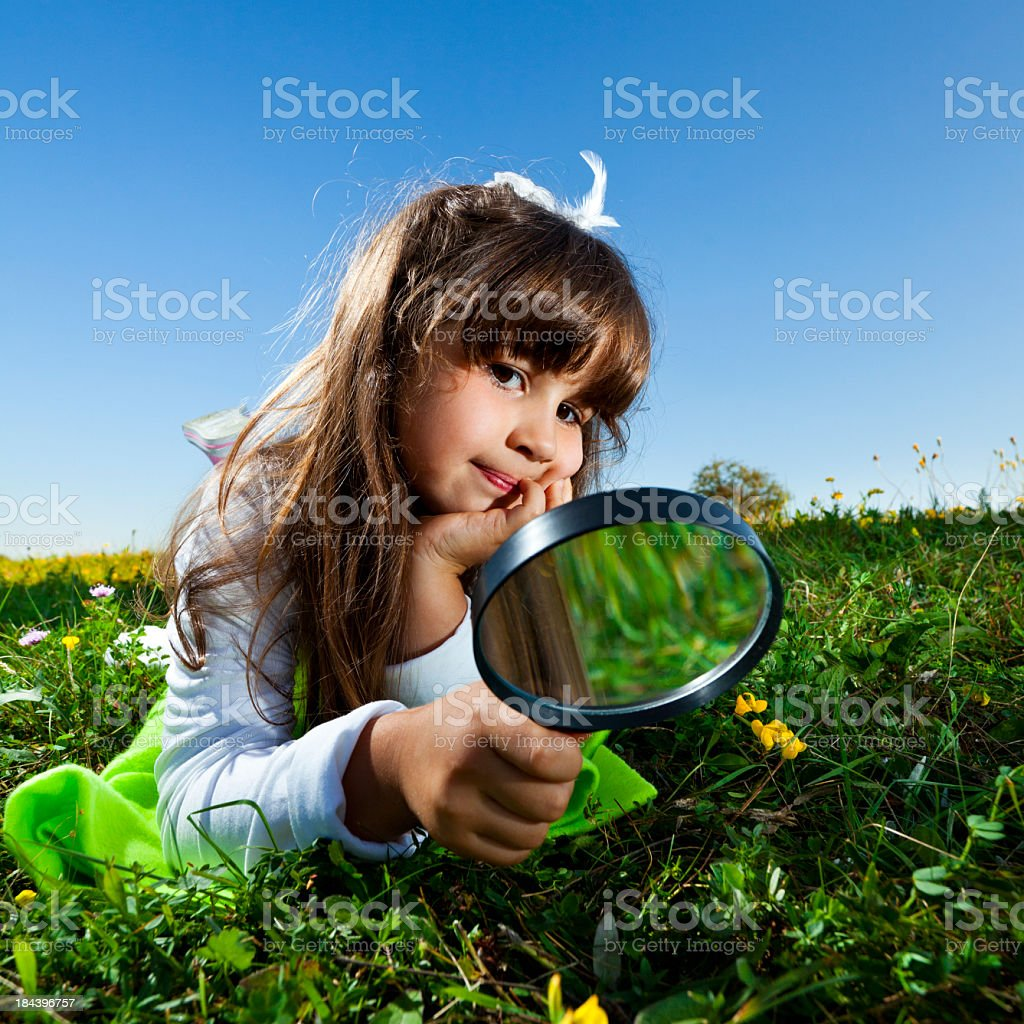 Little Girl Exploring Nature royalty-free stock photo