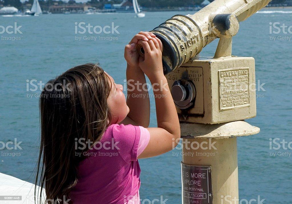 Little girl exploring royalty-free stock photo