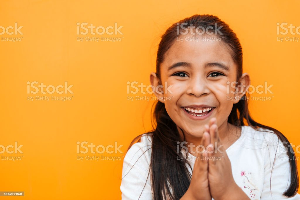 Little Girl Facial Expressions stock photo