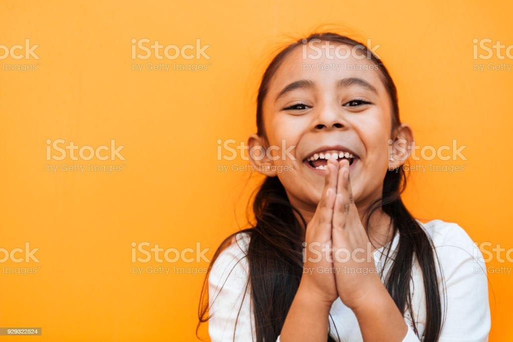 Kleine Mädchen Mimik – Foto
