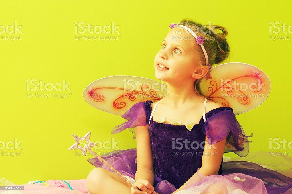 Little Girl Fairy royalty-free stock photo