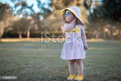 istock Little girl fashion 1130057031