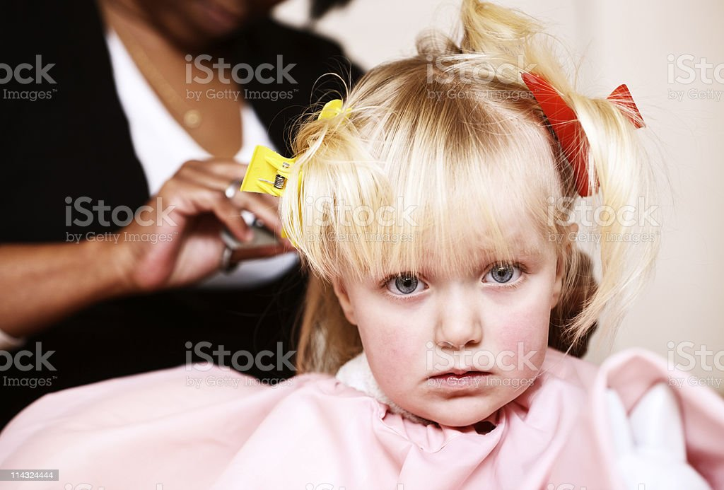 Little Girl Getting First Haircut Stock Photo More Pictures Of 2 3