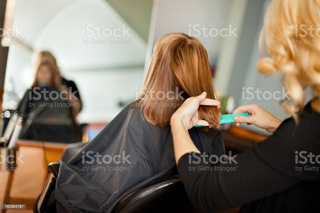 Little Girl Getting Haircut Stock Photo More Pictures Of 20 24