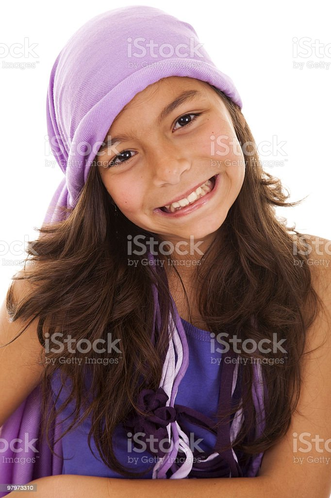 Little girl happiness royalty-free stock photo