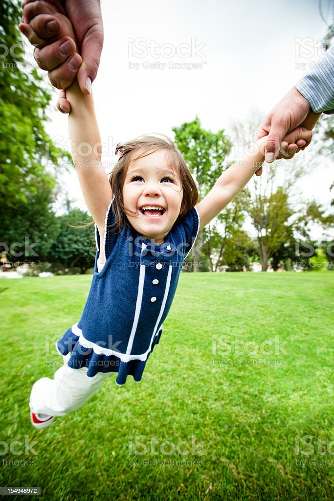 little girl happy outdoors royalty-free stock photo