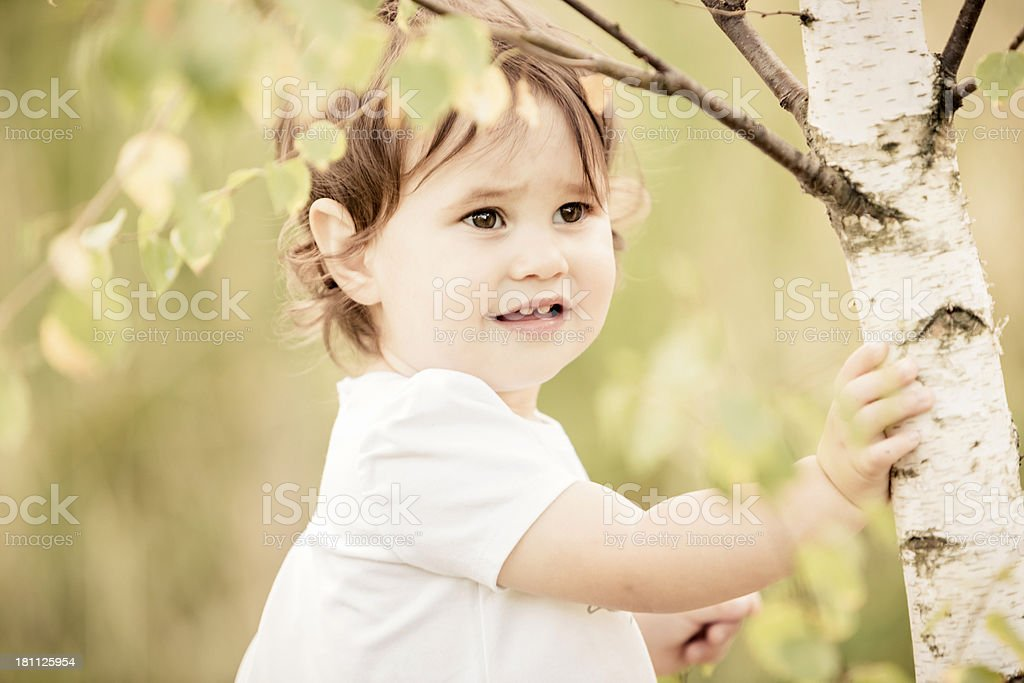 Little girl having fun at the park royalty-free stock photo