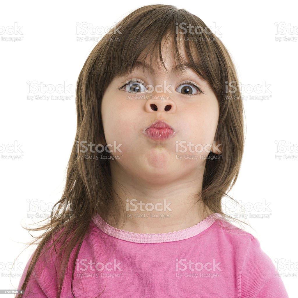Little Girl Holding Breath stock photo