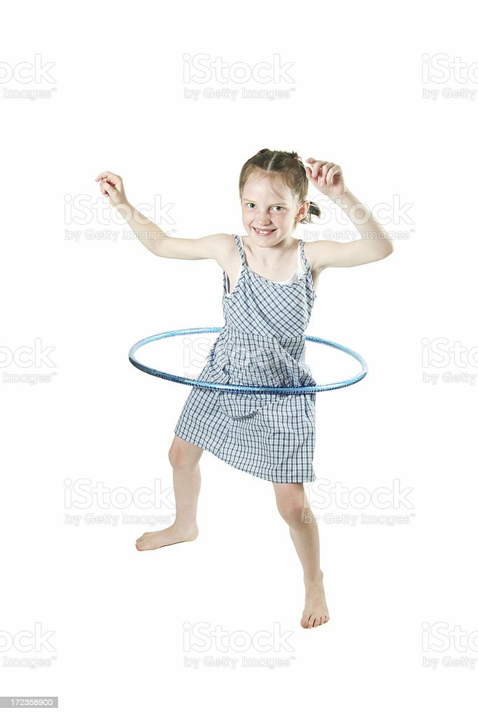 Little Girl Hula Hooping royalty-free stock photo