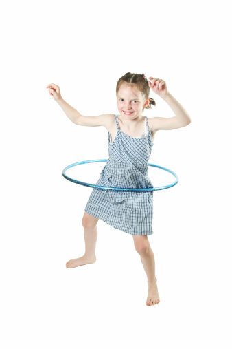 Little Girl Hula Hooping Stock Photo & More Pictures of Activity